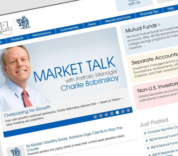 Ariel Investments Website Design
