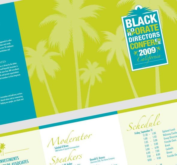 Black Corporate Directors Conference Schedule Design