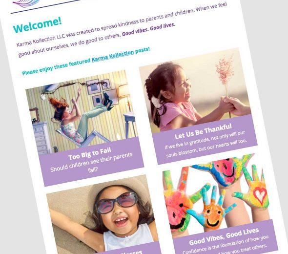 Karma Kollection eNewsletter Design